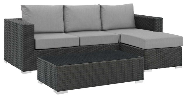Modern Outdoor Lounge Sectional Sofa Set Sunbrella Rattan Wicker Tropical Sets By House Bound