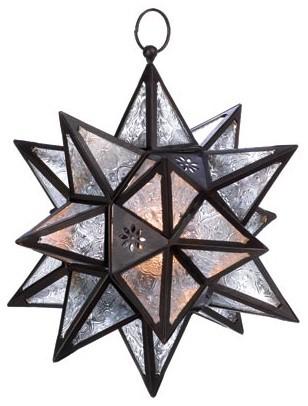 Moroccan Hanging Star Lantern.