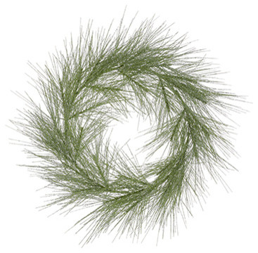 Silk Plants Direct Pine Wreath, Set Of 1.