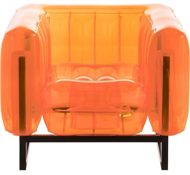 Mojow Yomi Inflatable Armchair, Orange, Black