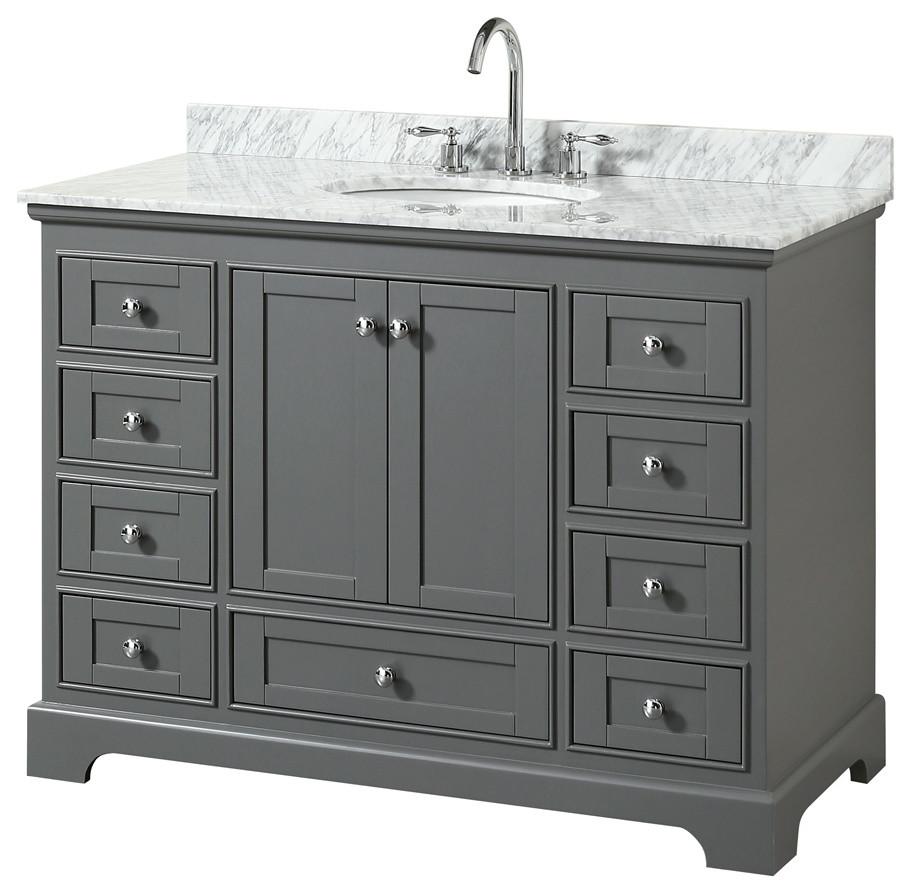 """Deborah 48"""" Vanity - Transitional - Bathroom Vanities And ..."""