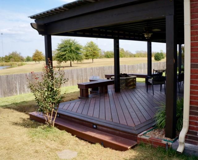 Composite Deck with Fire Pit Broken Arrow OK : home design from www.houzz.com size 640 x 520 jpeg 96kB