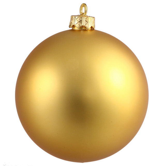 Shiny Ball Uv Drilled Cap Ornament Gold Contemporary