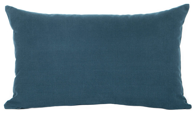Solid Navy Blue Decorative Pillow : Solid Navy Blue Accent, Throw Pillow Cover - Contemporary - Decorative Pillows - by Silver Fern ...