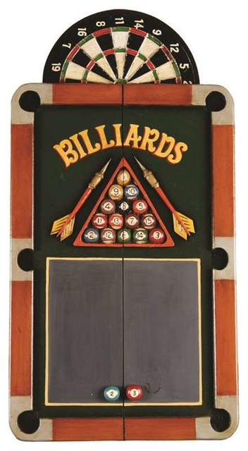 RAM Gameroom Billiards Dartboard Cabinet traditional-game-room-and-bar ...