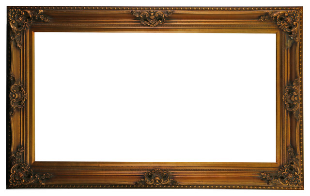 Fine Wooden Antique Gold Rectangular Frame, 54x34 - Victorian ...