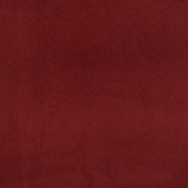 Cherry Red Solid Velvet Woven Upholstery Fabric