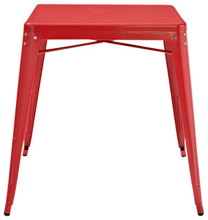 Amelia Metal Cafe Table, Red