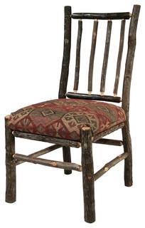 Flat Rock Berea Rail Back Side Chair Rustic Dining