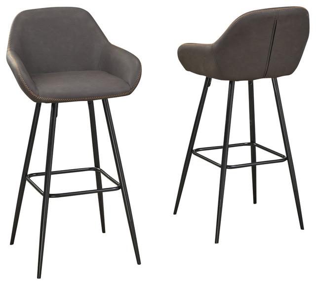 Miraculous Brassex Fresno 26 Bar Stool Set Of 2 Vintage Brown Evergreenethics Interior Chair Design Evergreenethicsorg