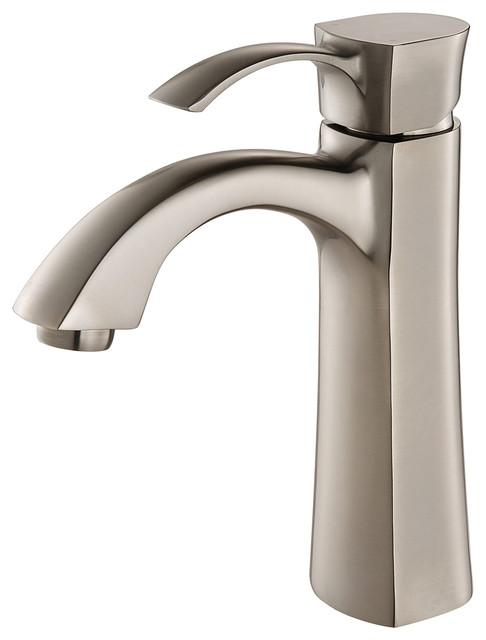 BAR3740BN Single Handle High Arch Brass Bar Faucet 1-3 Hole Installation