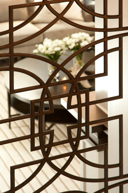 Wrought Iron Room Divider Robeson Design Transitional