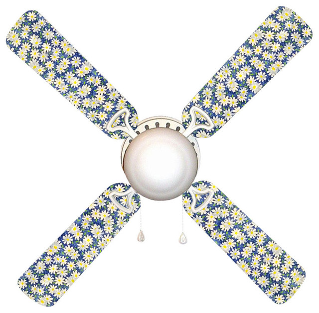 """Daisy Gingham 42"""" Ceiling Fan And Lamp."""