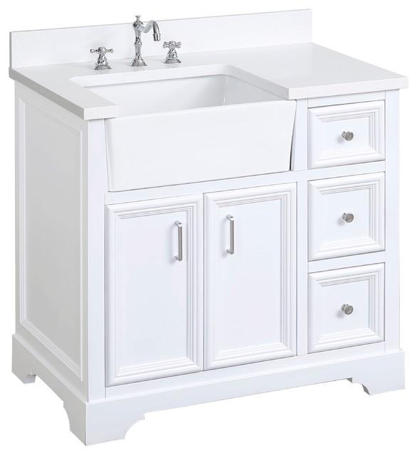 online retailer 84e10 87964 Zelda Bathroom Vanity, Base: White, 36