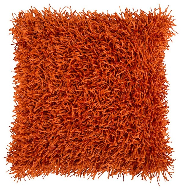 "Nitro By Surya Down Fill Pillow, Burnt Orange, 18""x18"", Fa059-1818d."