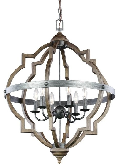 Sea Gull Lighting 5124906 Socorro 6-Light Foyer Pendant
