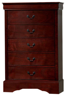 Traditionally Designed Wooden Chest, Cherry Brown