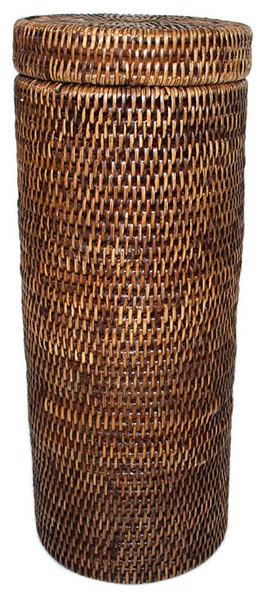 Rattan Toilet Paper Roll Basket