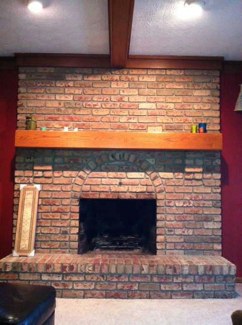 1980s large brick fireplace ideas to update
