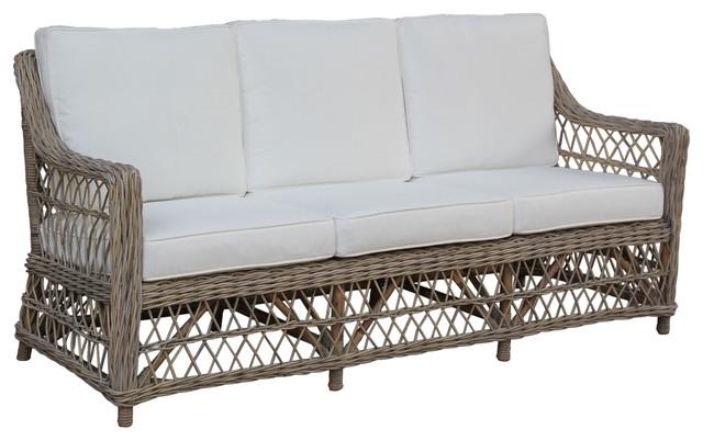 Panama Jack Seaside Sofa With Cushions Tropical Sofas