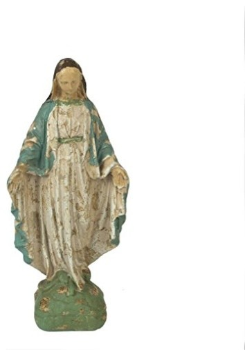 "12.25"" Resin Reproduction Of Vintage Mary Statue."