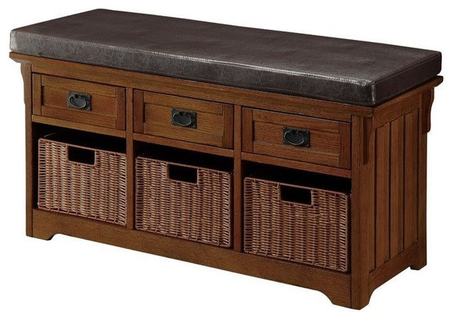 Awe Inspiring Accent Hallway Entryway Storage Bench Baskets Drawers Upholstered Seat Gmtry Best Dining Table And Chair Ideas Images Gmtryco