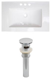 Ceramic Top Set, White Color and Drain