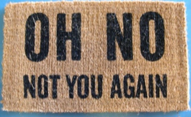 Quot Oh No Not You Again Quot Doormat Traditional Doormats