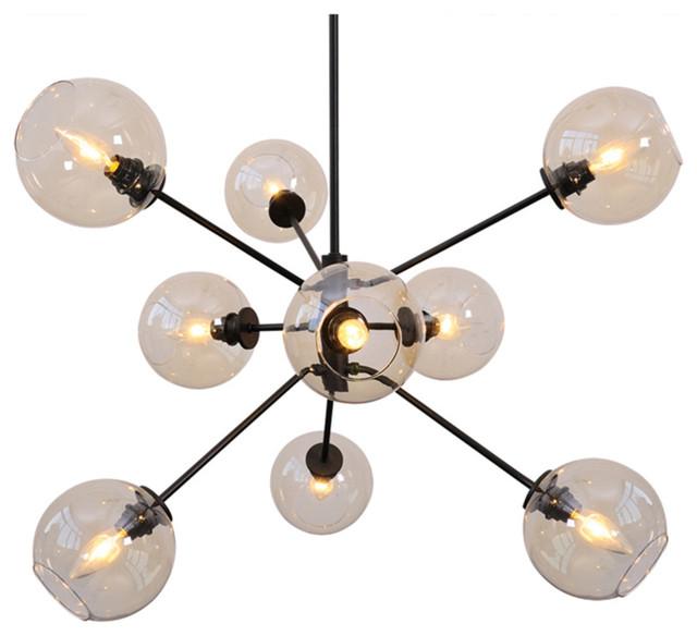 atom 9 light pendant lamp contemporary pendant lighting by