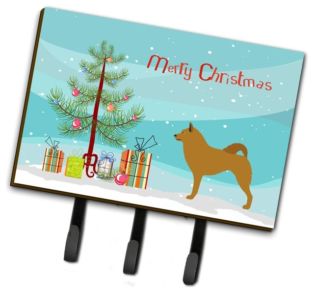 Finnish Spitz Christmas Leash Or Key Holder Contemporary Wall Hooks By The Store