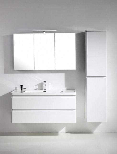 "Eviva Glazzy 48"" Wall Mount Modern Bathroom Vanity With Single Sink."