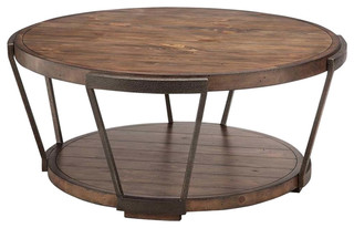 Magnussen Yukon Industrial Bourbon Coffee Table With
