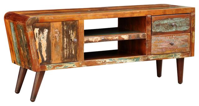 VidaXL Reclaimed Wood TV Cabinet, 1-Door and 2-Drawer