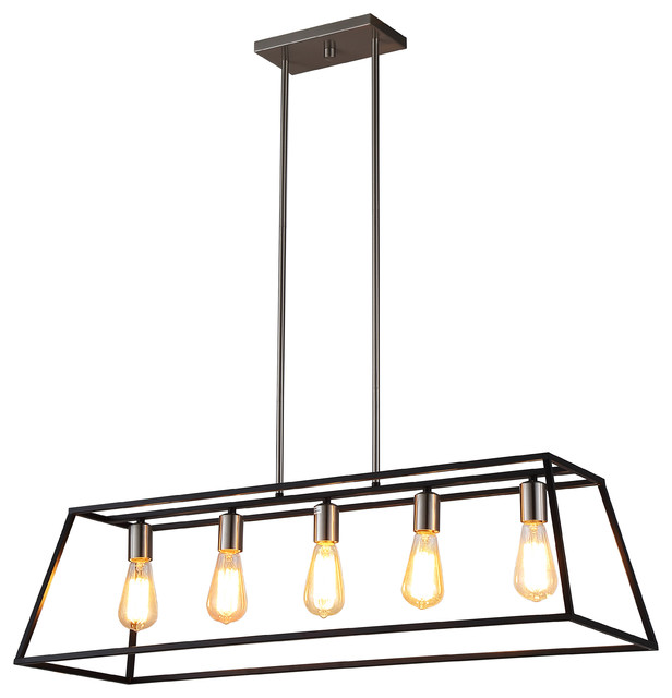 Ove Decors Agnes Ii Black Finish Led Integrated Pendant.