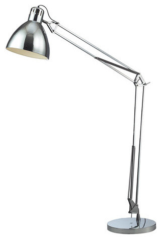 Robert Abbey Rico Espinet Buster Chica Floor Lamp, Polished Nickel/fondine