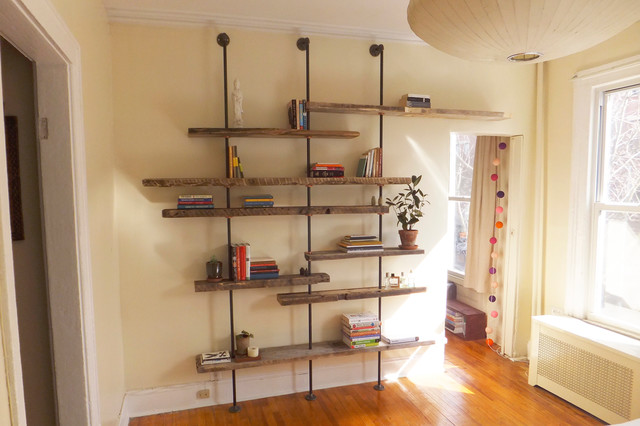 Great Adjustable Rustic Modern Shelving Unit Of Reclaimed Wood