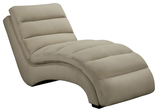 Savannah Microfiber Chaise Lounge, Tan.