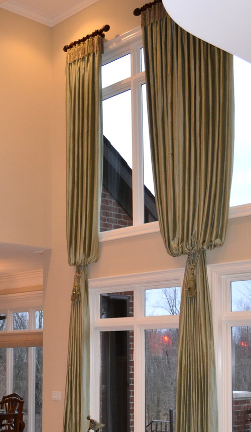 Two story window treatments can add drama beauty and detail for 2 story window treatments