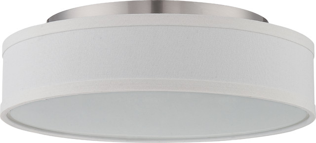 Nuvo 1-Light Led Heather Close-To-Ceiling Light Fixture, Brushed Nickel.