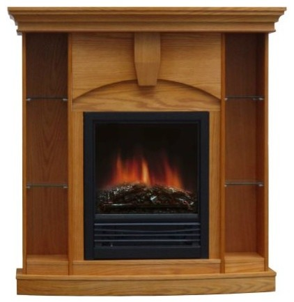 Wessexcorner electric fireplace indoor fireplaces by for Indoor corner fireplace
