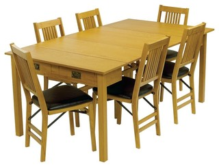 Stakmore Mission Style Expanding Dining Table Warm Finish Dining Tables
