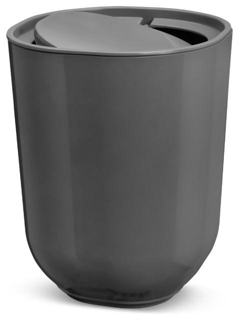 step waste can with lid black black modern bathroom