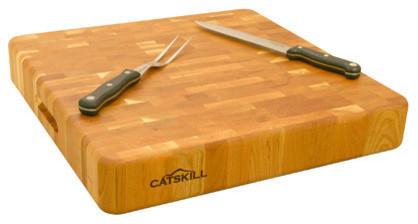 Catskill Craftsmen Slab End Grain Cutting Board Birch