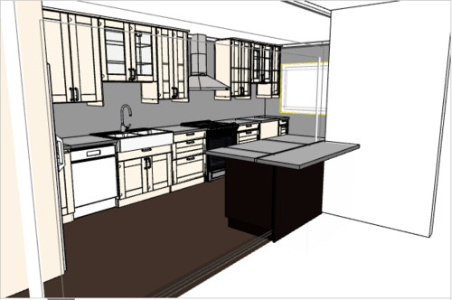 Should i put cabinets or shelves about my kitchen sink for House plans with kitchen sink window