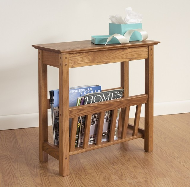 Leick Favorite Finds End Table ... Rack by Manchester Wood traditional-side-tables-and-end-tables