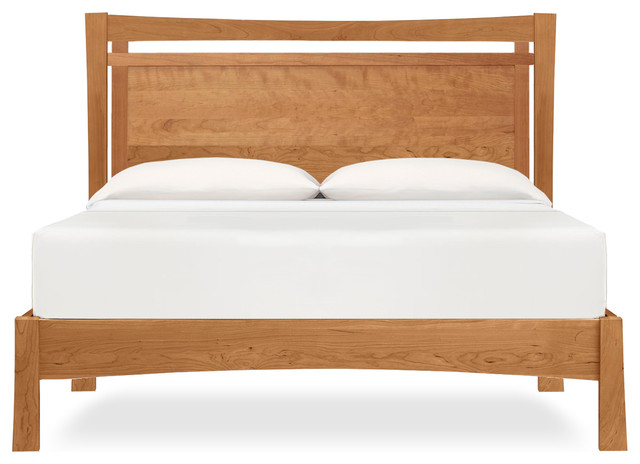 Monterey Platform Bed, Solid Natural Cherry, Natural Cherry, Full.