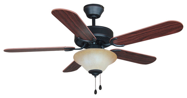 """Oil Rubbed Bronze 42"""" Ceiling Fan With Light Kit."""
