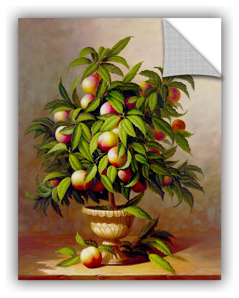Potted Peach Tree Decal Farmhouse Prints And Posters By Artwall Llc