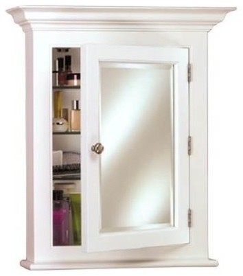 Wood Medicine Cabinet, Small, White - Contemporary - Medicine Cabinets - by ShopLadder