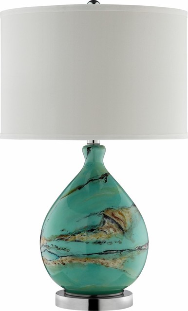 morenci glass table lamp danesi stone mix of browns black cream